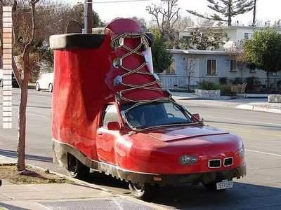 سيارات غريبة شكل