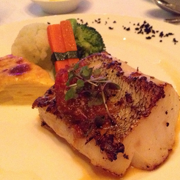 Main Course Option 1: Roasted Cod. I liked this dish as the fish was very tender and no fishy   smell.