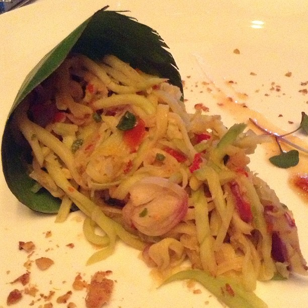 Appetizer: Mango Salad.. it was super spicy that I had to stop eating it and gulp down loads of water.