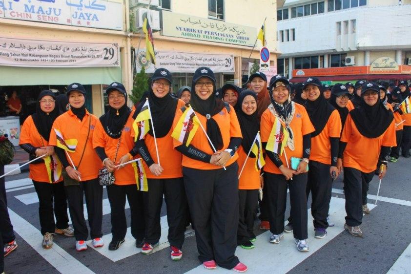 Frist Day rehearsal in the City Centre, Bandar Seri Begawan